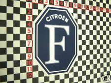 F Autocollant pour Citroen 2cv Dyane Ami DS traction avant