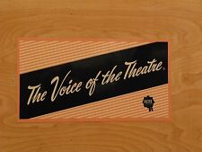 Altec Voice Of The Theater DECAL set of four label sticker A5 A7 speakers