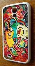 For Samsung Galaxy S4 i9500 Adventure Time Finn and Jake Style White Back Case