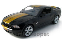 GREENLIGHT 50824 2010 10 FORD MUSTANG GT COUPE HERTZ 1/18 BLACK with GOLD STRIPE