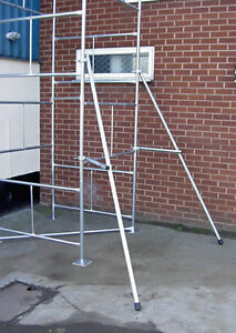 Scaffold Tower Outriggers Stabilisers Pair - Classic Galvanised Steel Towers