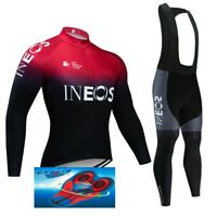 """TEAM INEOS 2019 cycling SET winter thermal  9D GEL PAD """"NEW"""""""