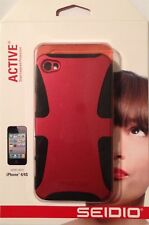 Seidio Active Series Dual Layer Case Cover For iPhone 4S / 4 Burgundy