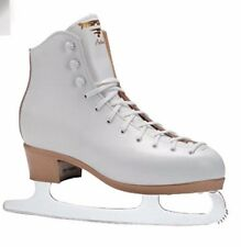 NEW Risport White Antea Figure Ice Skates Leather Euro 30 (19.7cm) FREE POSTAGE