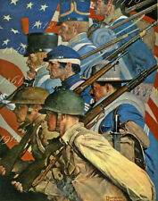Norman Rockwell Americans At War Print 11 x 14    #5661
