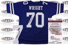 Rayfield Wright Signed Custom Pro Style Jersey JSA Witnessed