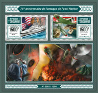 Togo Military & War Stamps 2016 MNH WWII WW2 Pearl Harbor Aviation Ships 2v S/S