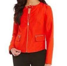 jones new york linen suit jacket geranium red new 8