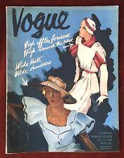 Vogue Magazine ~ July 15, 1932 ~ Gardens Summer Sports Fashion