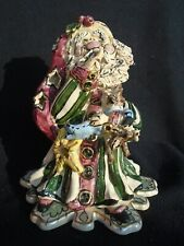 Blue Sky Heather Goldminc Santa Candle Holder