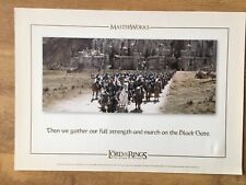 Lord Of The Rings Return Of The King. Masterworks Lithographic Art Print Movie