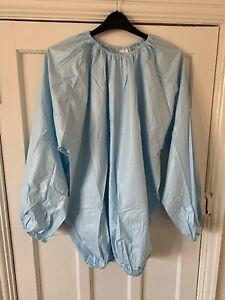 Haian PVC Jogging Suit Sauna Top. Huge 2XL Size. Light Blue Plastic.