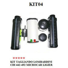 KIT TAGLIANDO COMMON RAIL LOMBARDINI 442 - 492 MICROCAR LIGIER AIXAM KIT04