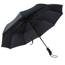 Folding Auto Open Umbrella Windproof Compact Travel Umbrella Black