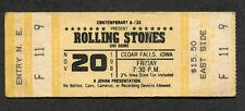 1981 Rolling Stones concert unused full ticket Cedar Falls Iowa Tattoo You