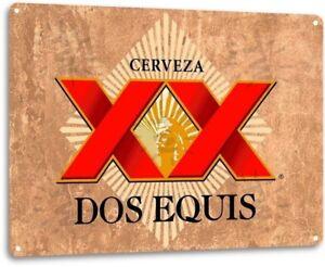 Dos Equis XX Beer Logo Retro Wall Art Decor Bar Pub Man Cave Metal Tin Sign New