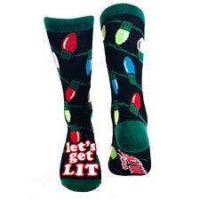 f4da294c05f Women s Lets Get Lit Socks Funny Christmas Lights Casual Footwear