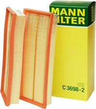 C 3698/3-2 Mann Air Filter Element, (Set Of 2) Free Shipping