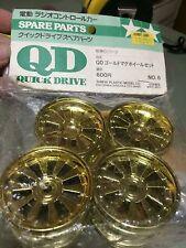 Vintage Original Tamiya QD Gold Mag Wheel Set (F&R) 43006