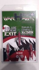 Hero Warhawk H*4 100 Grain 4-Blade Broadhead 3-Pack Red