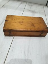 Solid Wood Little Box Vintage Reclaimed Rustic maybe cigar cigarette