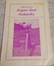 Australian Angora Goat Husbandry A Bode H Brooks Signed Copy