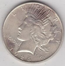 USA 1926D SILVER PEACE DOLLAR IN NEAR EXTREMELY FINE CONDITION