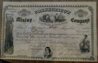* A15  Connecticut Mining Company Stock Certificate 1864