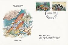 ST LUCIA 1983 FIRST DAY COVER NATIVE FISH AND CORAL