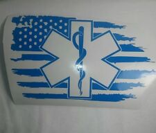 Paramedic Vinyl Car Decal, Decals Sticker Window Health Care USA Flag RN