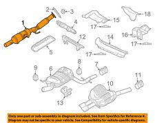VW VOLKSWAGEN OEM Passat-Exhaust System-Catalytic Converter & Pipe 5C0254511R