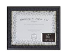 Certificates 8.5x11 Black Silver Burgundy Color Ornate Finish with Real Glass