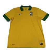 Nike Brazil CBF Dri-Fit World Cup Yellow Soccer Jersey Size L