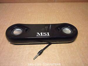 MSI Star Sound Multimedia-Lautsprecher für PC USB 2.0 schwarz USED + CABLE