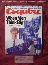 ESQUIRE mag February 1983 ROBERT MITCHUM DAVID ZINMAN +