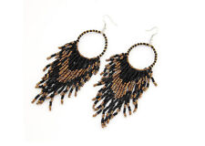 Handmade Beaded Earrings Long Tassel Bohemia Seed Beaded Dangle Hook Jewelry New