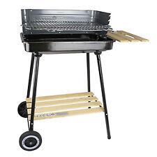 Holzkohlegrill Grillwagen Gartengrill Camping Grill mit Rädern Barbecue MG905