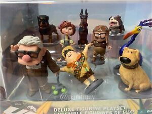 Disney Pixar Up Deluxe Figure Set With Carl Ellie Doug Kevin Russell, 3 Dgs DENT