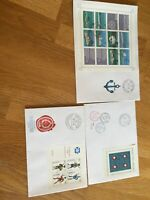 Switzerland 3 FDc covers all with miniature sheets