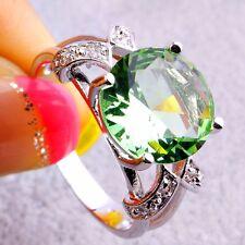 Neu Damen Design Turmalin Topas Edelstein Sterlingsilber 925 Ring Gr.16,8 mm