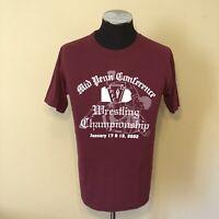 VTG Mid Penn Conference 2002 Wrestling Championships T-Shirt Sz M Pennsylvania