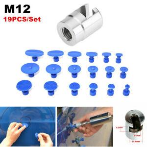 19PCS M12 Car SUV Body Hail Glue Puller + Tab Paintless Removal Dent Repair Tool