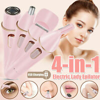 4 IN 1 Electric Women Hair Removal Epilator Body Facial Hair Removal Shaver Set