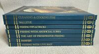 Lot of 7 Hunting Fishing Library Panfish Bass Walleye Bait Lures Cooking Books