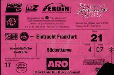 Ticket II. BL 97/98 1. FC Nürnberg - Eintracht Frankfurt, 16.03.1998
