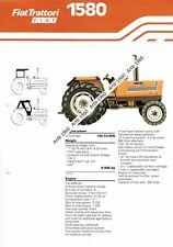 Fiat 1580 tractor 4 pg leaflet /Brochure 1979?