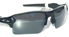 NEW* Oakley FLAK JACKET 2.0 Matte Black w Black Iridium Sunglass 9188