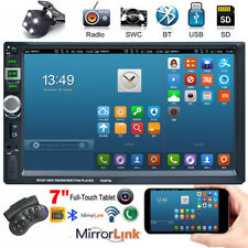 7 Inch Double 2 DIN Car Radio MP5 Player Touch Screen BT +Camera +Mirror Link