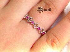 925 Sterling Silver Ring-Filigree Ruby Delicate dainty Ring minimal stacking
