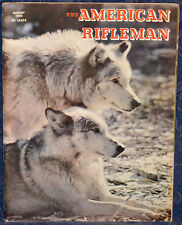 Vintage Magazine American Rifleman, AUGUST 1968 !!! Cover: WOLVES !!!